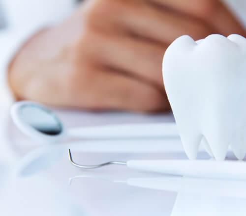 歯医者さんの机の上
